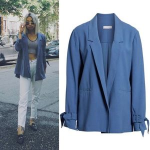 •1. State• Notch Lapel Soft Jacket Blue Menswear